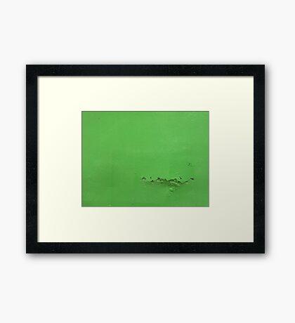 Say something green  Framed Print