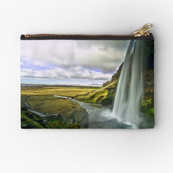 Seljalandsfoss in Iceland 2 Zipper Pouch