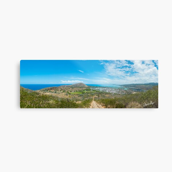 It's a long way to the top Metal Print