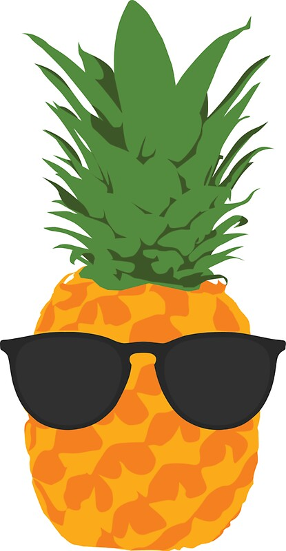 Image result for pineapple clipart with glasses