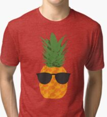 Camiseta de tejido mixto Cool Pineapple con gafas de sol