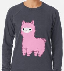 Rosa Alpaka Leichter Pullover