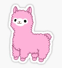 Pink Alpaca Sticker