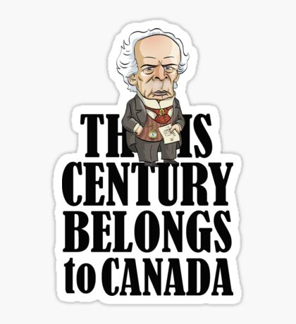 Wilfrid Laurier's This Century Sticker