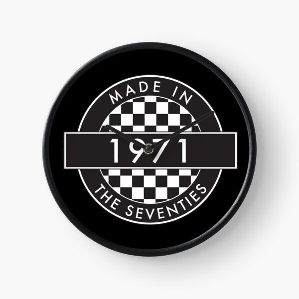 1971: MADE IN THE SEVENTIES [Black] Clock