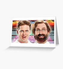 tim and eric show theory zone Greeting Card