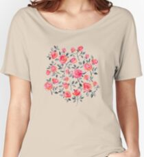 Roses on White - a watercolor floral pattern Women's Relaxed Fit T-Shirt