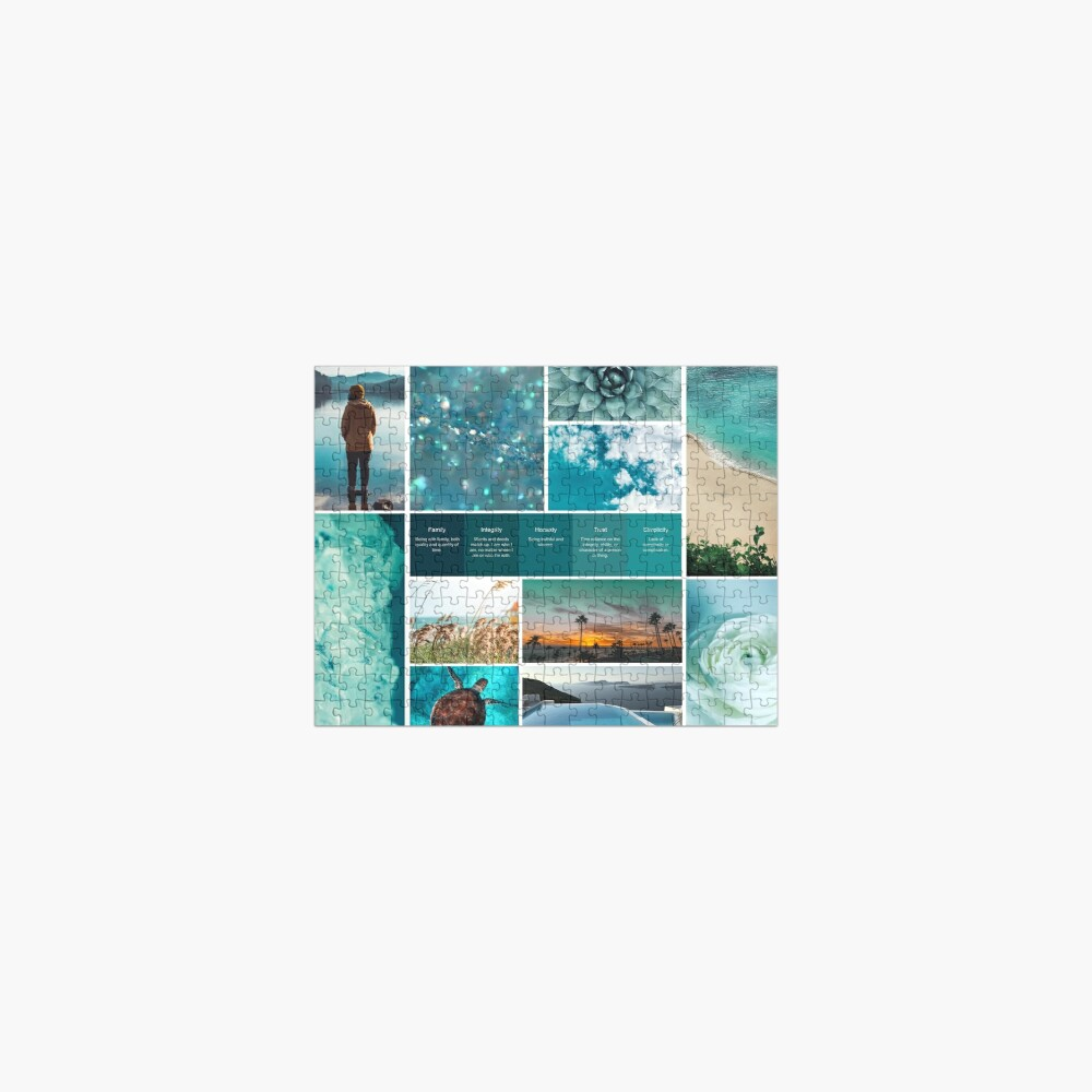 Turquoise Shades of Serenity. Soul Snapshot Jigsaw Puzzle