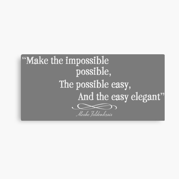 Make the possible easy Canvas Print
