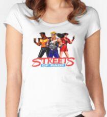STREETS OF RAGE - AXEL-BLAZE-ADAM  Women's Fitted Scoop T-Shirt