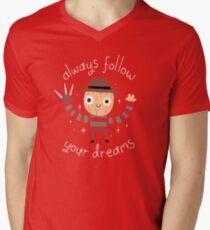 Always Follow Your Dreams V-Neck T-Shirt