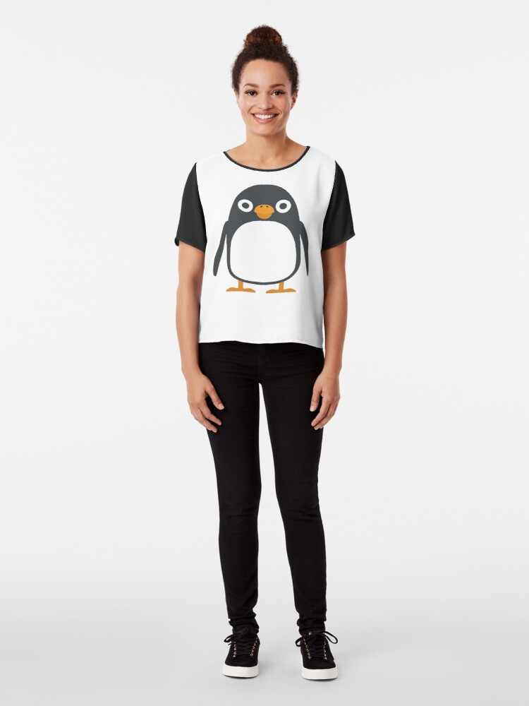 Alternative Ansicht von Pinguin Emoji Chiffon Top