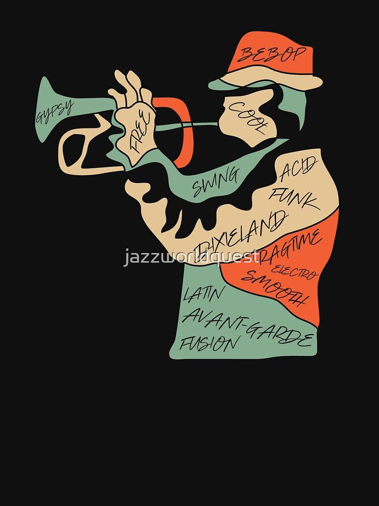 Jazz Trumpeter Modern Art Style by jazzworldquest