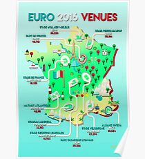 Euro 2016 venues Poster