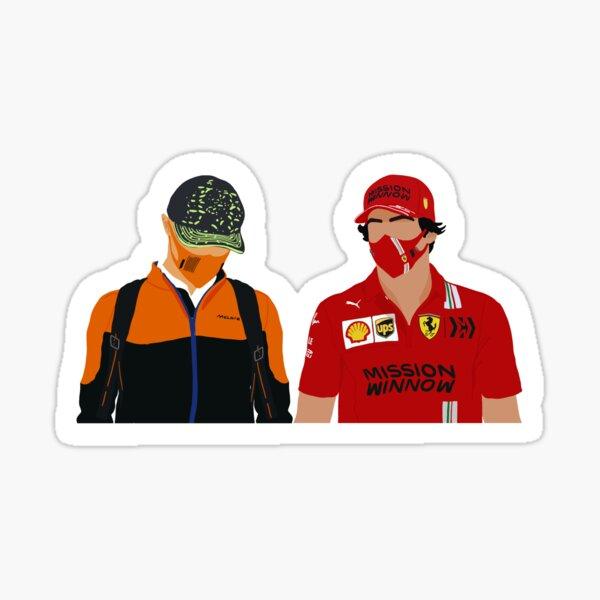 Lando Norris y Carlos Sainz son mejores amigos en las pruebas de pretemporada de 2021 Pegatina