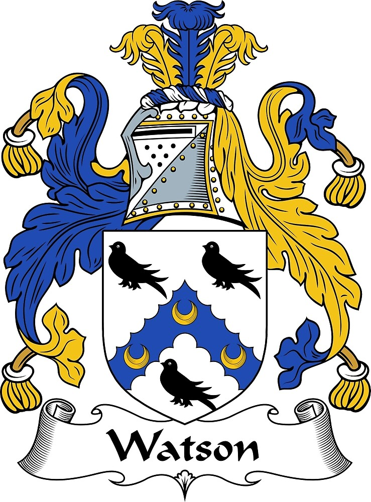 Quot Watson Coat Of Arms Watson Family Crest Quot By