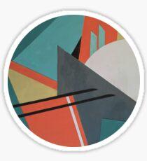 Geometric Peaks Sticker