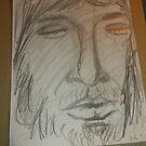 JC Head sketch -(260915)- Graphite stick/Pencil drawing by paulramnora