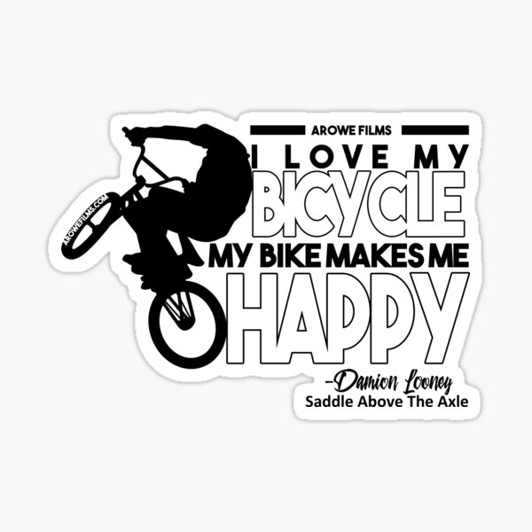 I Love My Bicycle (Black) Sticker