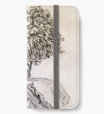 Chrysanthemum after Piet Mondrian iPhone Wallet