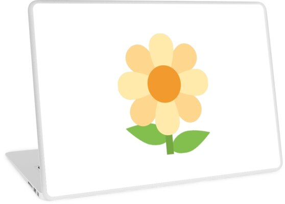 Flower Emoji Laptop Skins By Scrappydesigns Redbubble