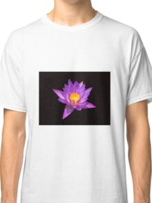 Lotus on black background Classic T-Shirt