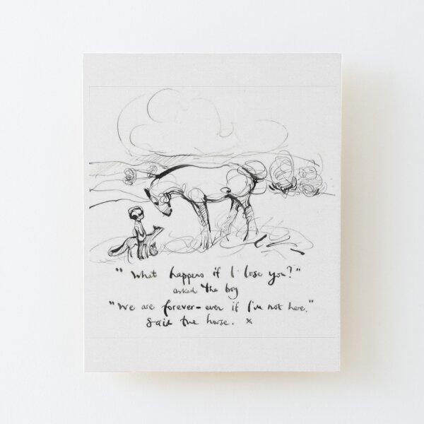 que pasa si te pierdo AMABLE chico, chica, El chico El topo El zorro y la camisa del caballo, charlie mackesy, orientación, amante de los libros, lector, amor, regalos Lámina montada de madera