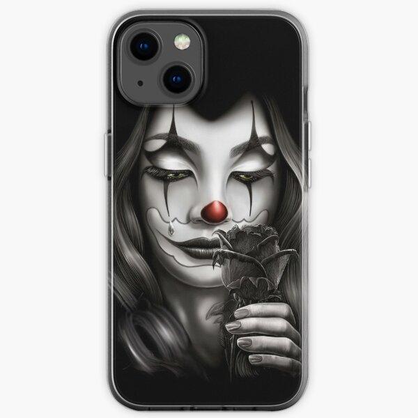Sad Girl Graphic Art iPhone Soft Case