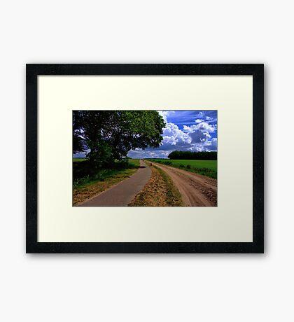 Countryroad - Steenakkersweg Framed Print