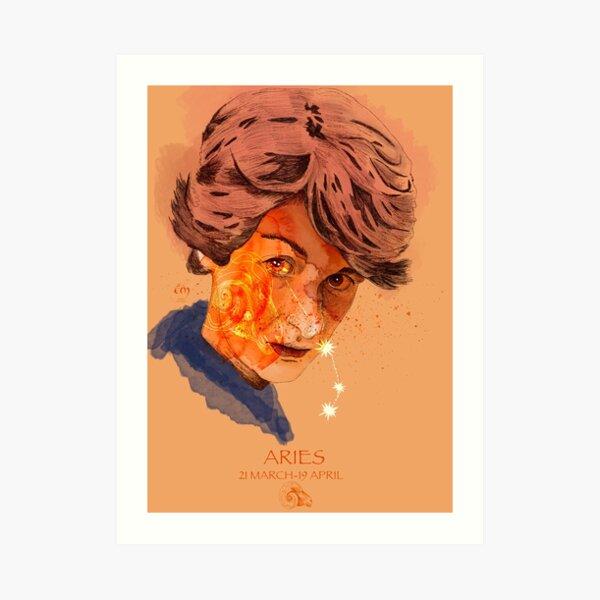 Portrait Bélier Impression artistique