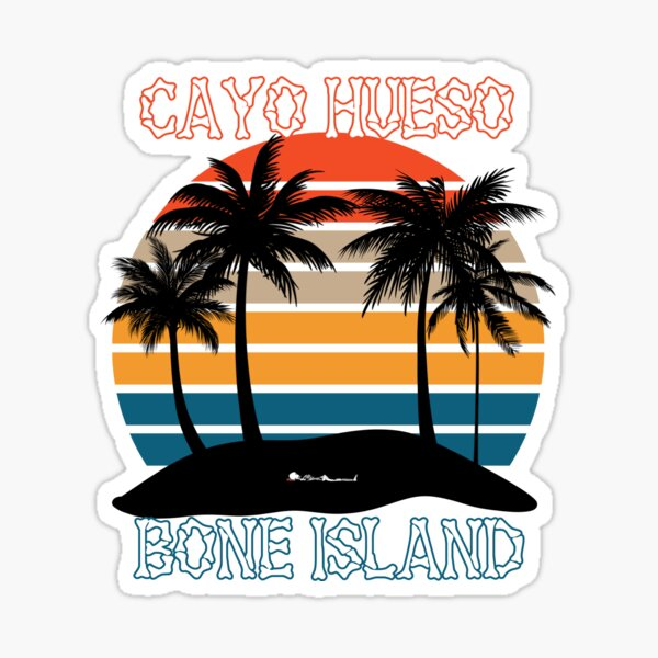 Cayo Hueso Bone Island Key West Sunset Island Sticker
