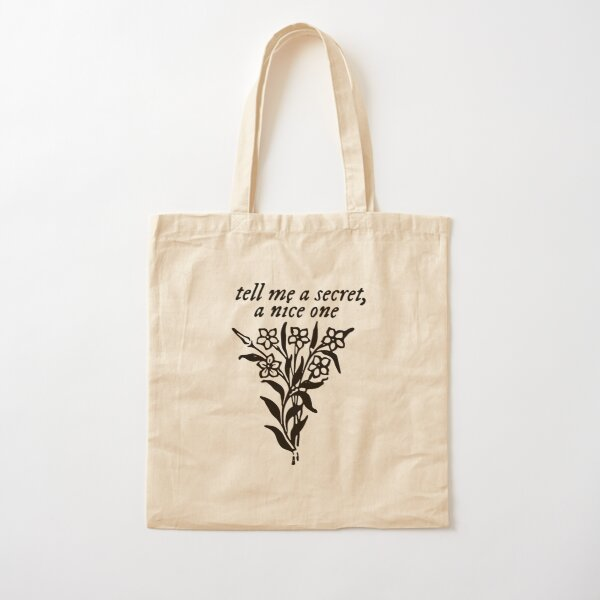 tell me a secret, a nice one Cotton Tote Bag