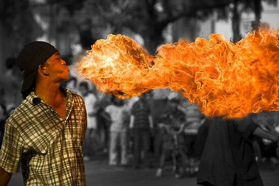 Fire Ball Show (Please Enlarge) by Charuhas  Images