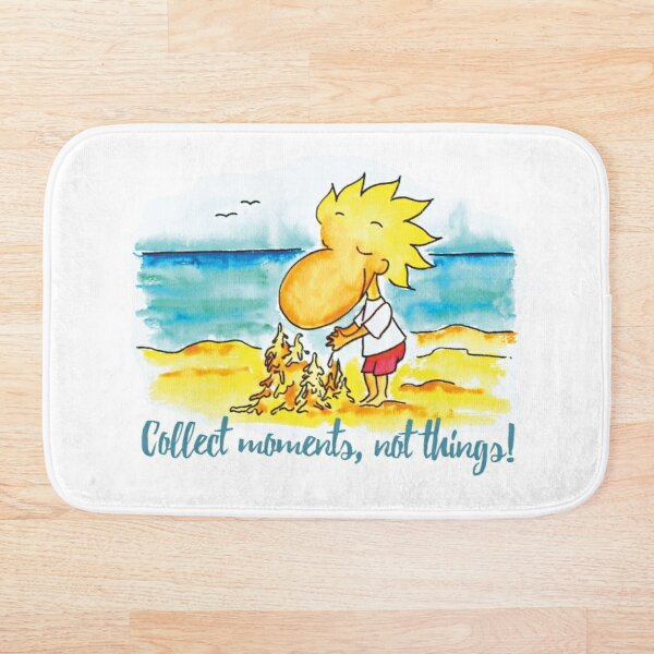 Collect moments, not things Bath Mat