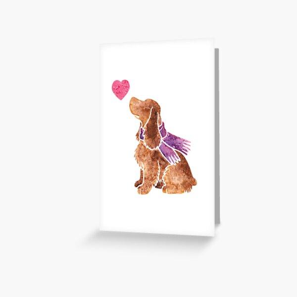 Watercolour spaniel Greeting Card