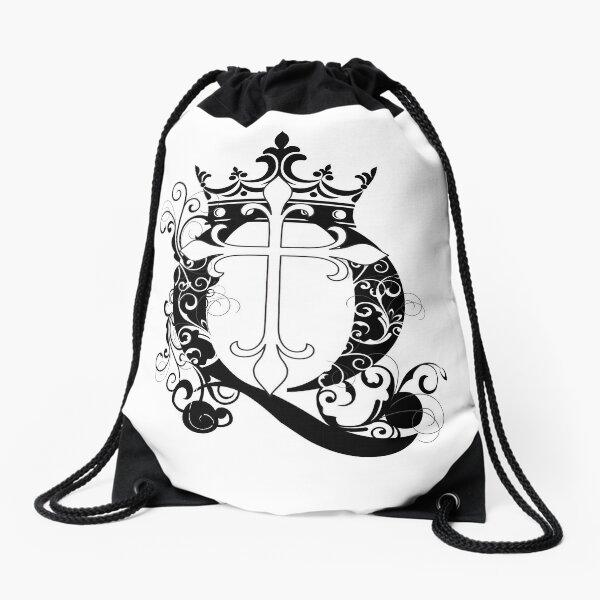 Cross Q Crown in Black Drawstring Bag