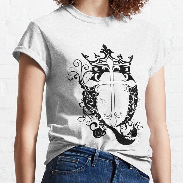 Cross Q Crown in Black Classic T-Shirt