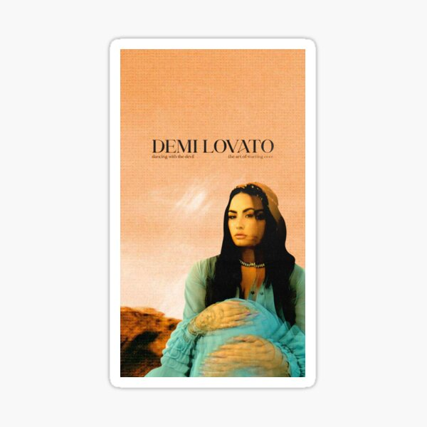 DEMI LOVATO DANCING WITH THE DEVIL THE ART OF STARTING OVER Sticker