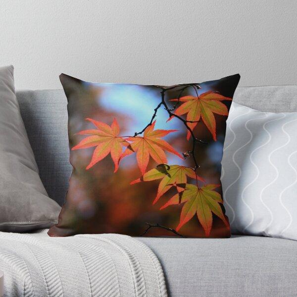 Leaf dance Throw Pillow