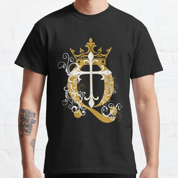 Cross Q Crown in Gold Classic T-Shirt
