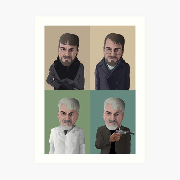 The Evolution of Lorne Malvo in Fargo Art Print