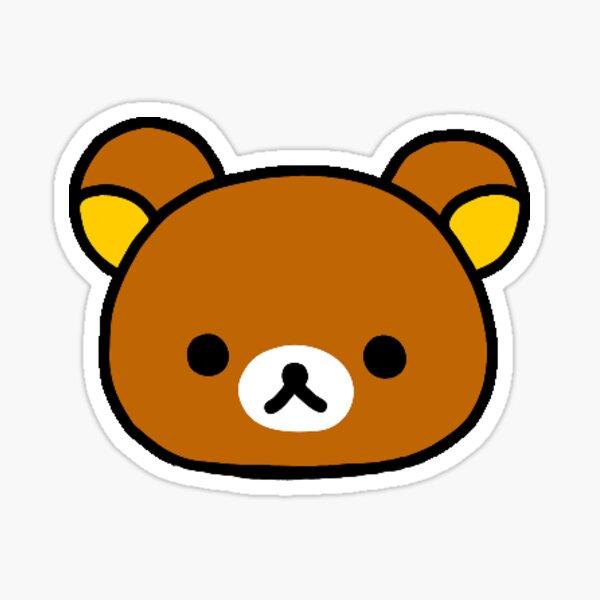 Rilakkuma cute bear head Sticker