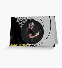Gillian Anderson for Jane Bond Greeting Card