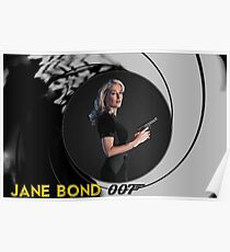Gillian Anderson for Jane Bond Poster