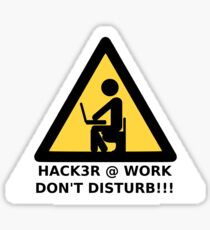 Hacker at work Sticker