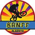 MOUNTAIN BIKE BANFF ALBERTA CANADA BIKING MOUNTAINS by MyHandmadeSigns