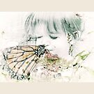Butterfly Kisses- Beige Border by Susan Werby