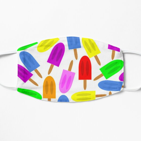 Colorful Popsicles Flat Mask