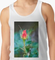 Single Red Bud Tank Top