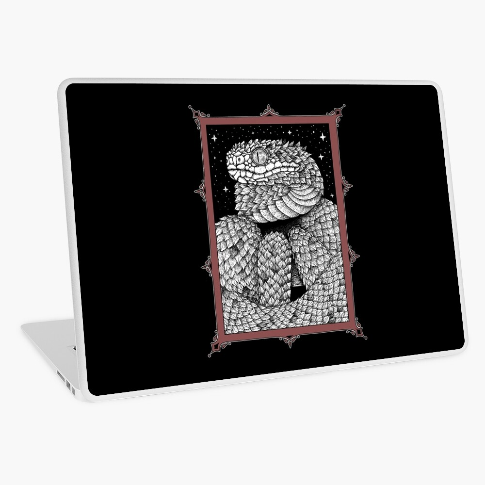 spiny bush viper red | Laptop Skin